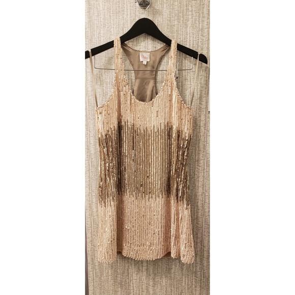 Parker Dresses & Skirts - PARKER ombre neutrals racerback sequin dress